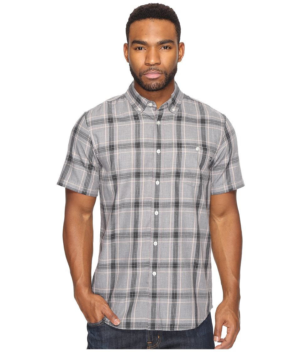 Obey - Pine Woven Short Sleeve Woven Shirt (Heather Charcoal Multi) Men's Short Sleeve Pullover