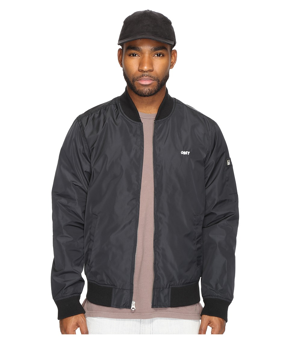 Obey - Eightball Bomber Jacket (Black) Men's Coat