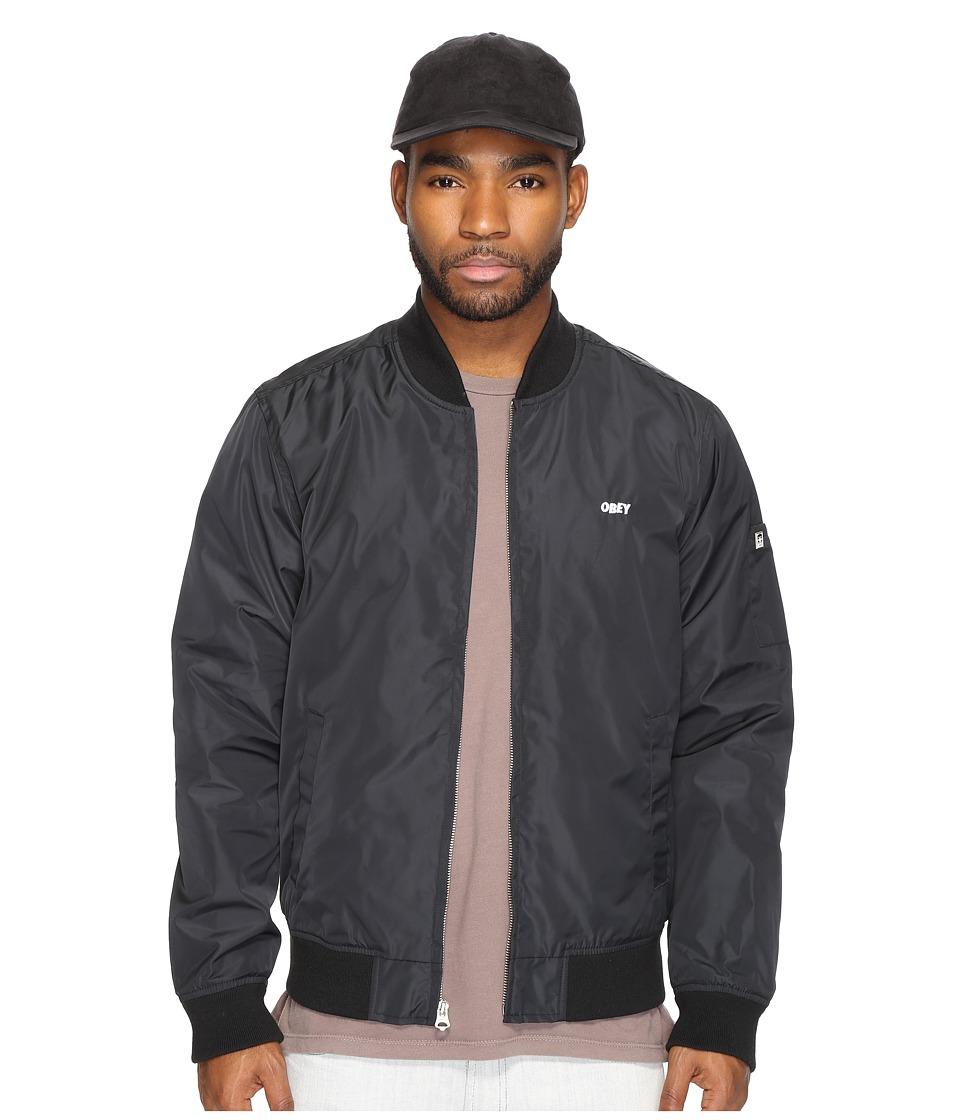 Obey - Eightball Bomber Jacket (Black) Men's Coat