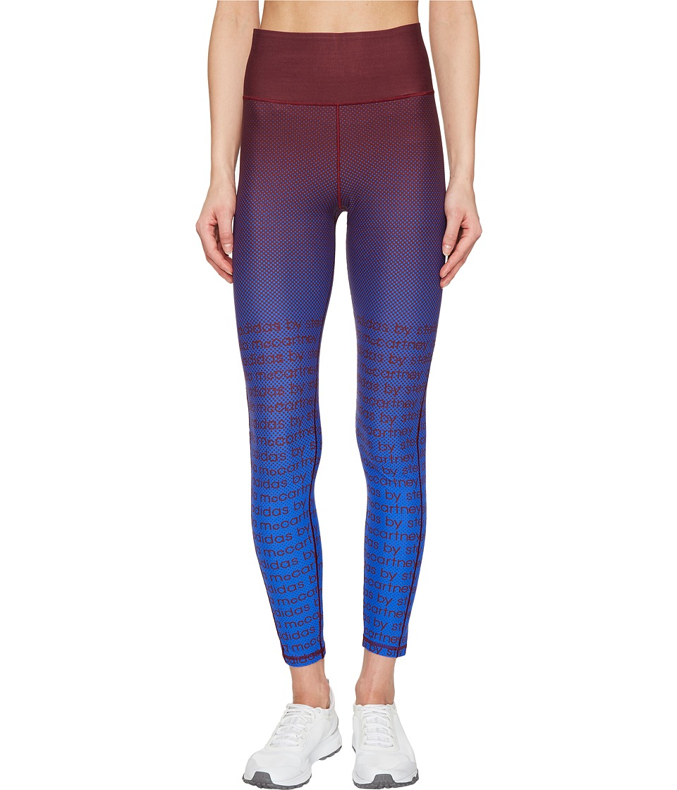 adidas by Stella McCartney - Training High Intensity Short Tights BP8851 (Cherry Wood/Bold Blue) Women's Workout