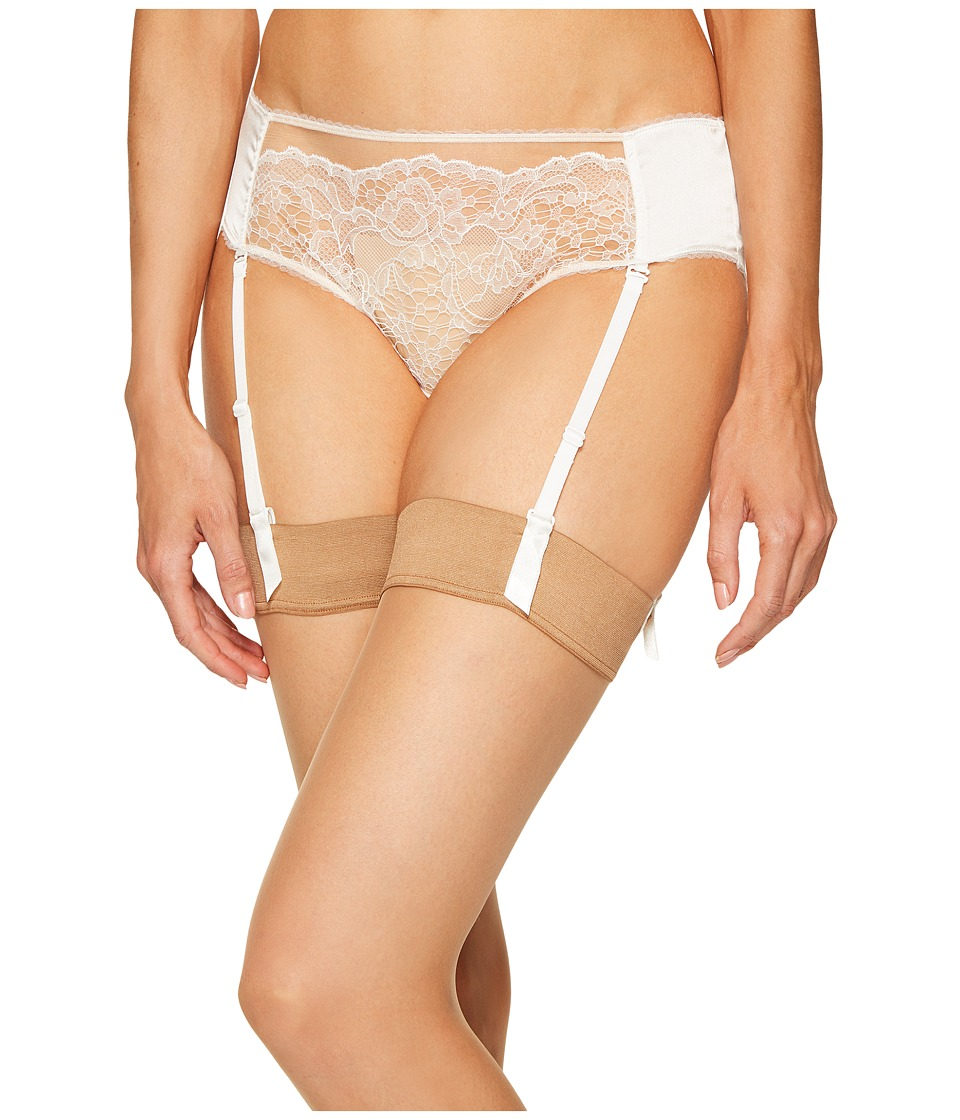 ELSE - Yasmine Silk Lace Hipster with Removable Suspenders (Ivory) Women's Underwear