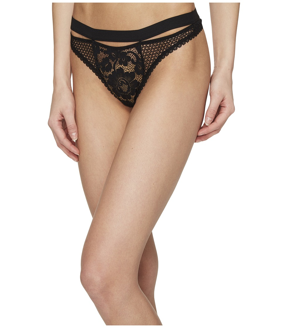 ELSE - Petunia Sporty Thong (Black) Women's Underwear