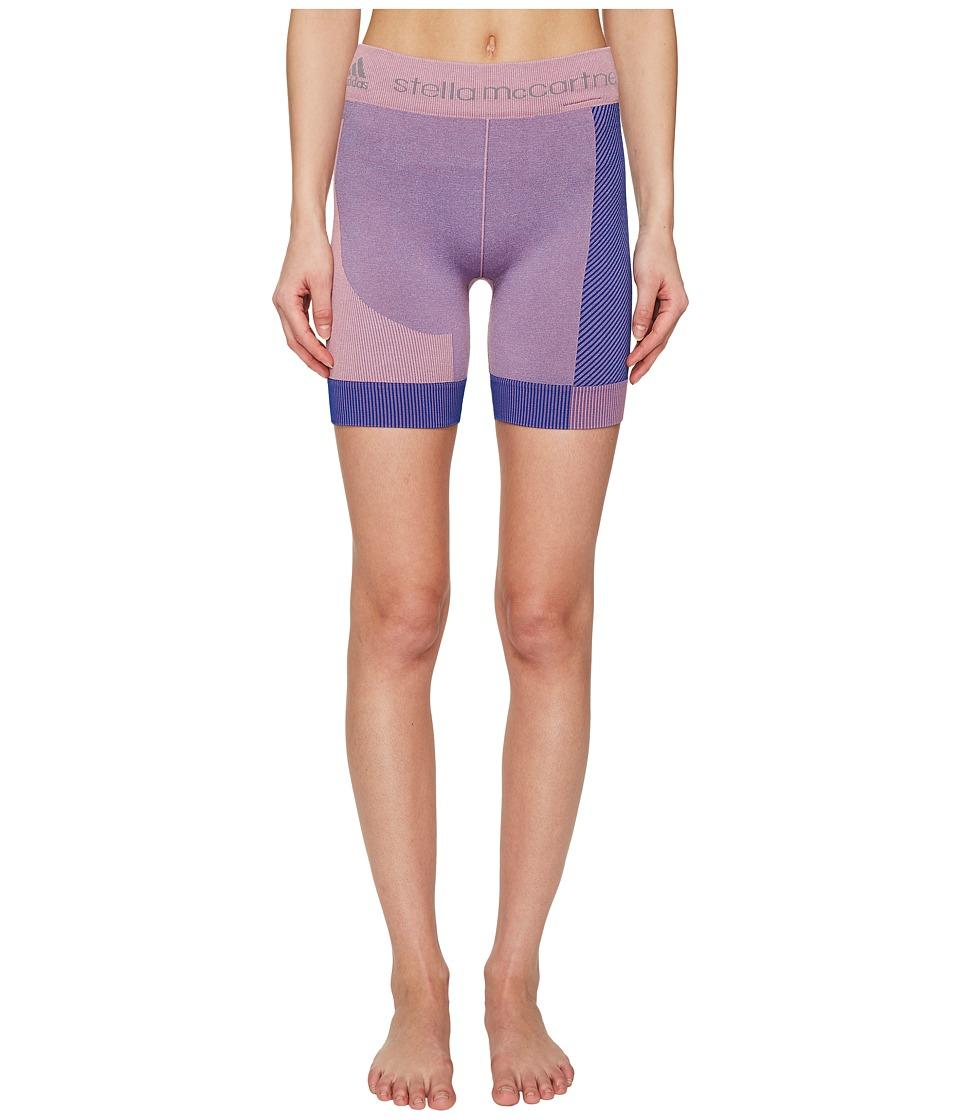 adidas by Stella McCartney - Yoga Seamless Shorts AZ6671 (Dusk Pink/Bold Blue) Women's Shorts