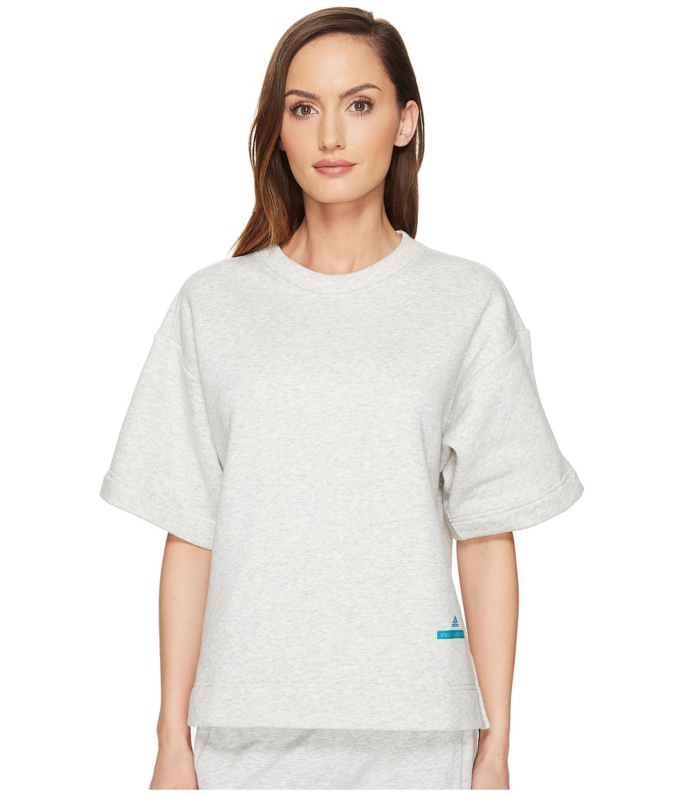 adidas by Stella McCartney - Yo Sweatshirt S97510 (Cool Grey Melange) Women's Sweatshirt