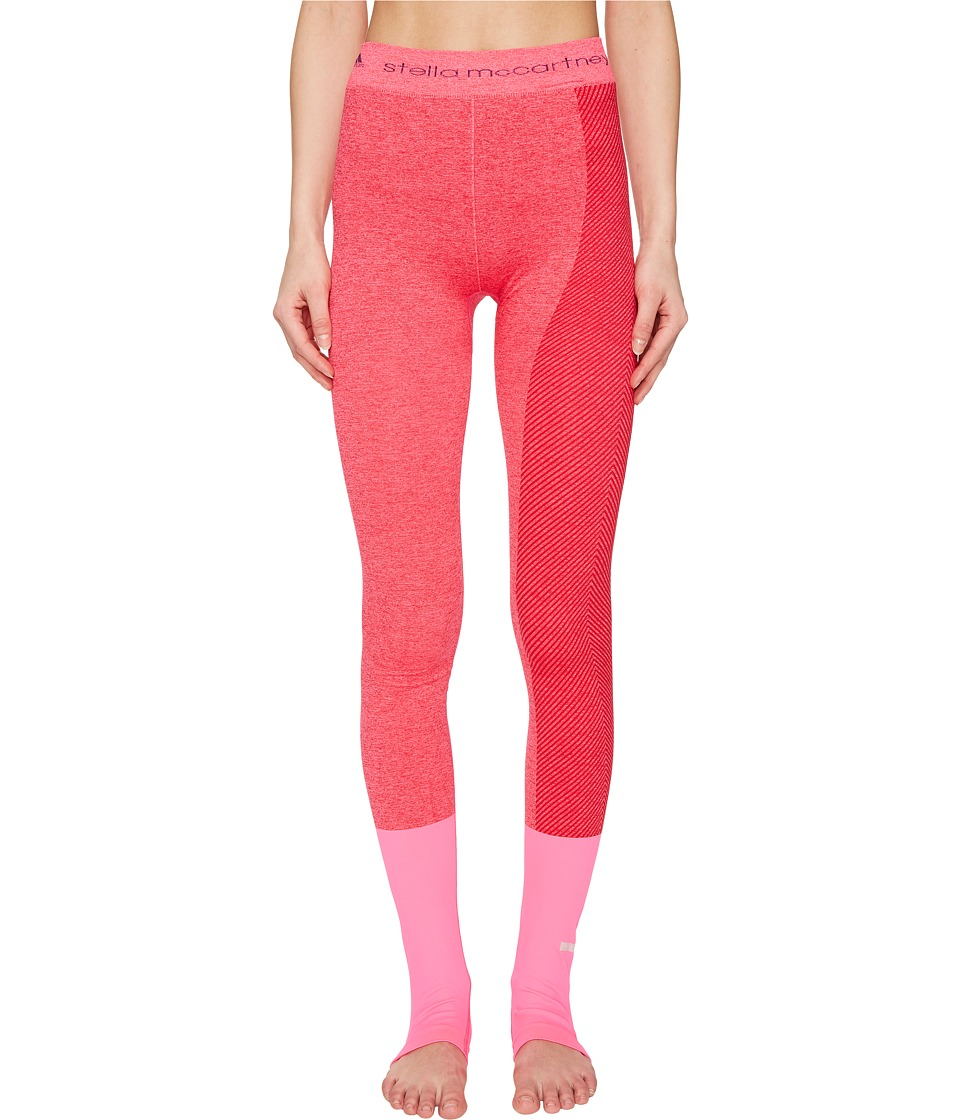 adidas by Stella McCartney - Yoga Seamless Tights S97516 (Shock Pink/Ruby Red) Women's Workout