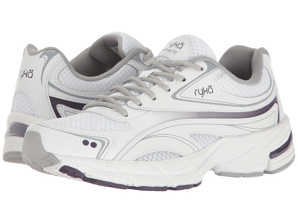 Ryka - Infinite (White/Grey/Purple) Women's Shoes