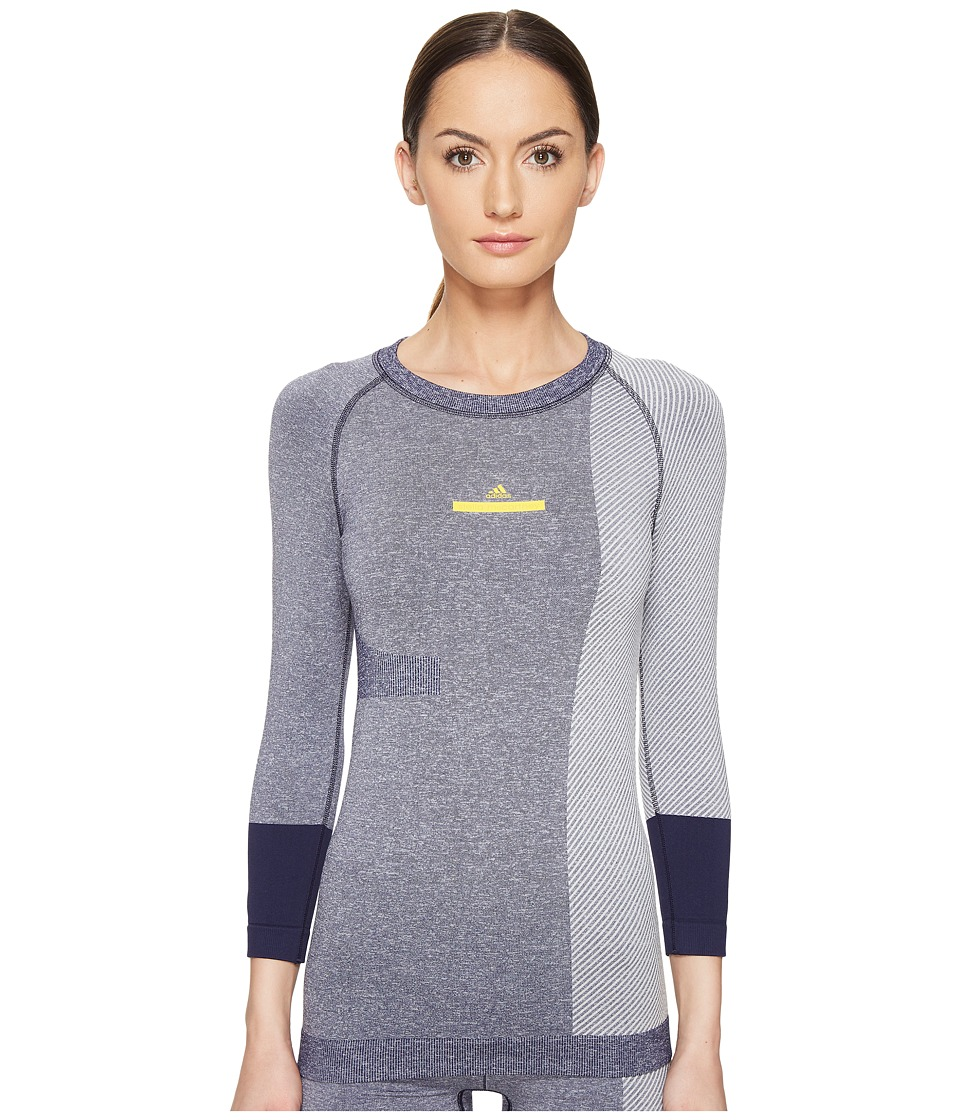 adidas by Stella McCartney - Yoga Seamless Top AZ6940 (Noble Ink/White) Women's Long Sleeve Pullover