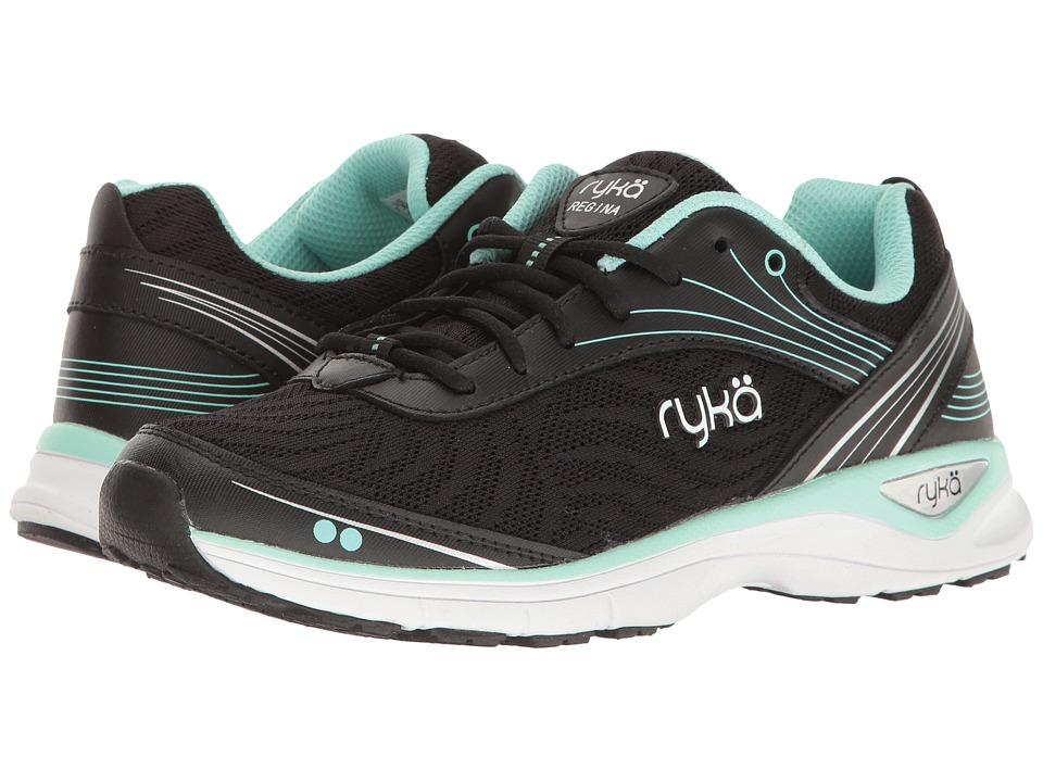 Ryka - Regina (Black/Mint/Silver) Women's Shoes
