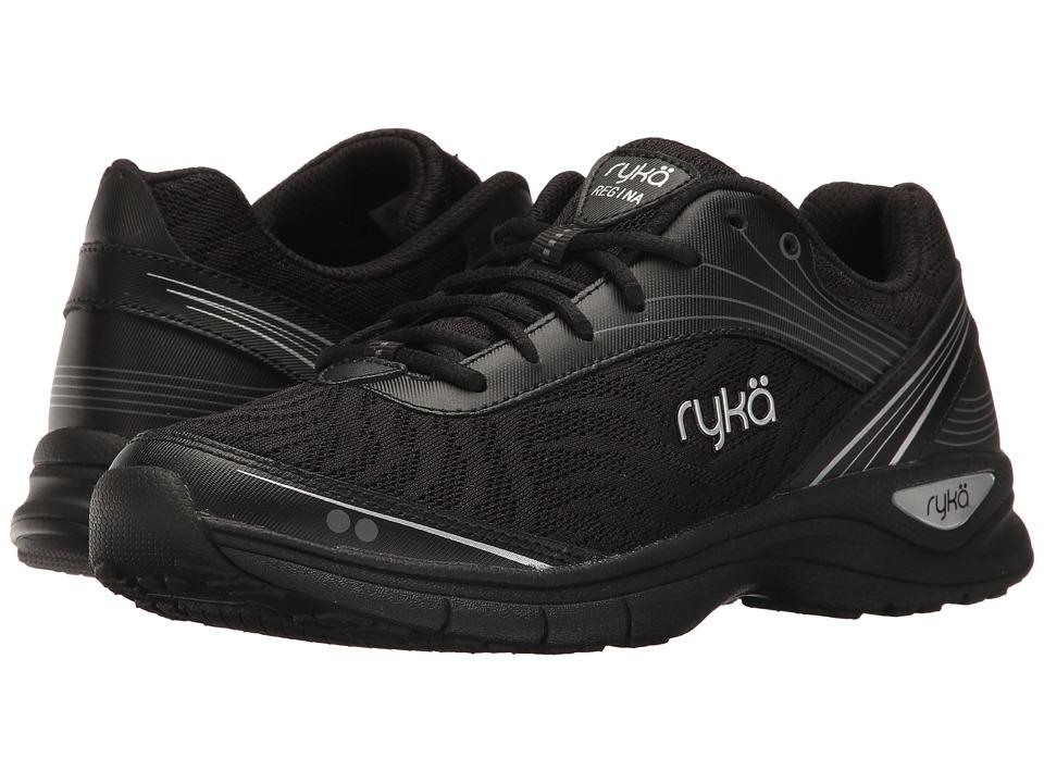 Ryka - Regina (Black/Meteorite/Silver) Women's Shoes