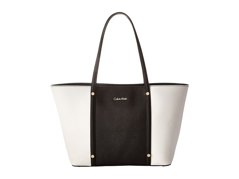 Calvin Klein - Key Items Saffiano Tote (Black Combo) Tote Handbags