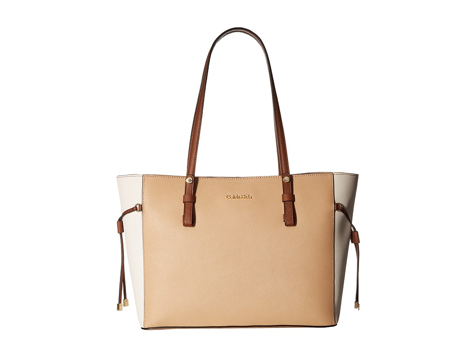 Calvin Klein - Key Item Leather Tote H4AA12GM (Nude Combo) Tote Handbags