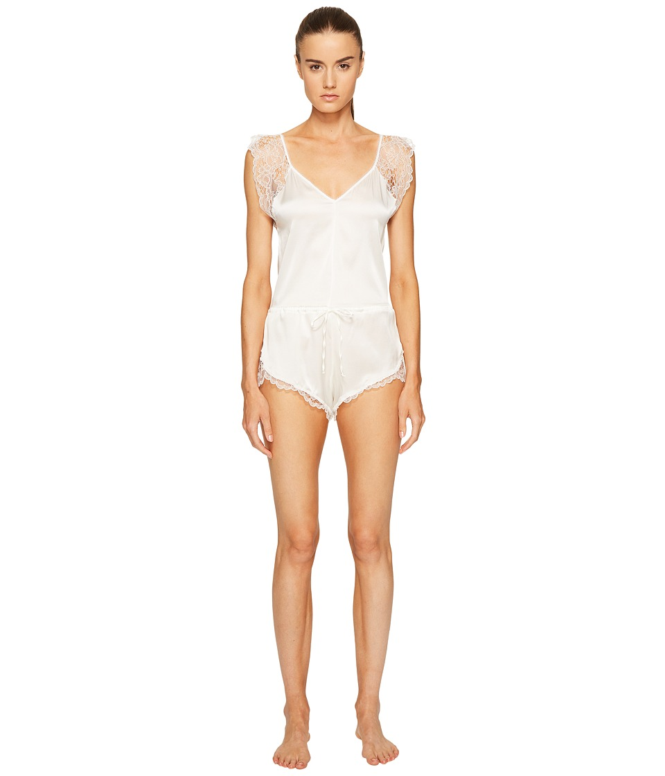 ELSE - Silk Lace Romper (Ivory) Women's Jumpsuit & Rompers One Piece