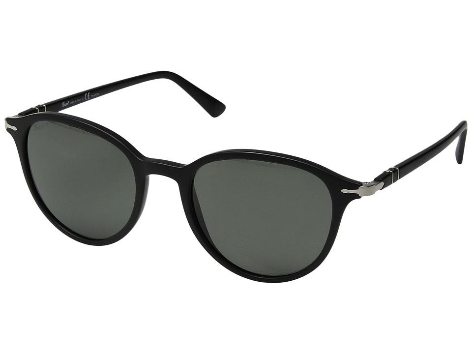 Persol - 0PO3169S (Matte Black/Polar Green) Fashion Sunglasses