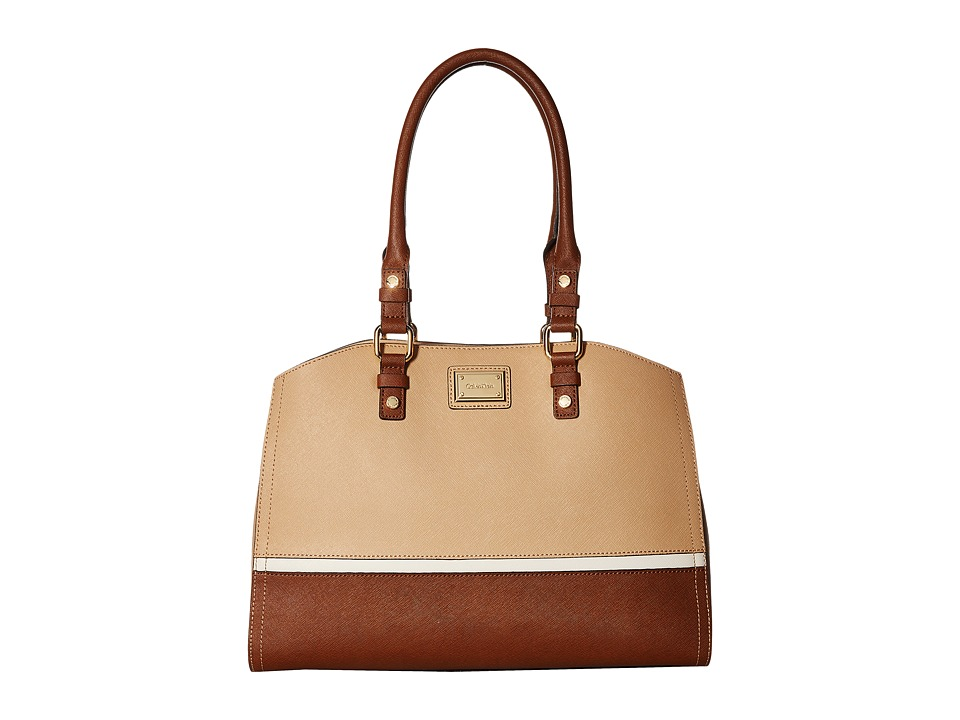 Calvin Klein - Key Items Saffiano Satchel (Nude Combo) Satchel Handbags