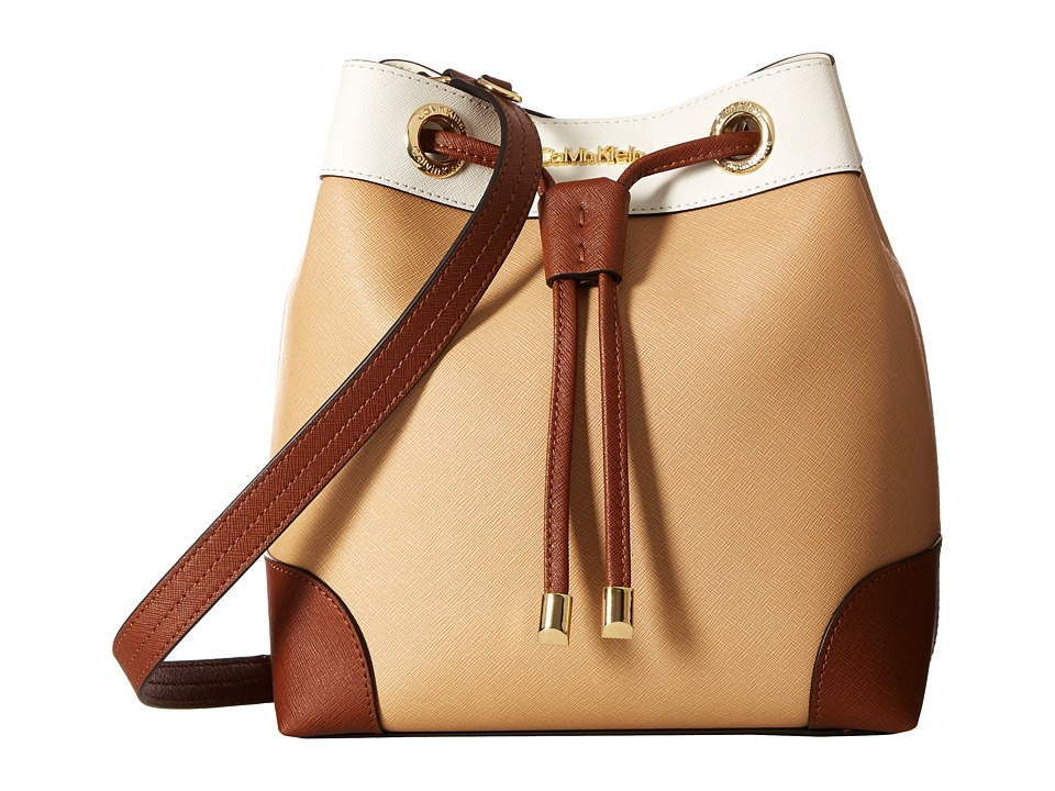 Calvin Klein - Key Items Saffiano Bucket (Nude Combo) Handbags