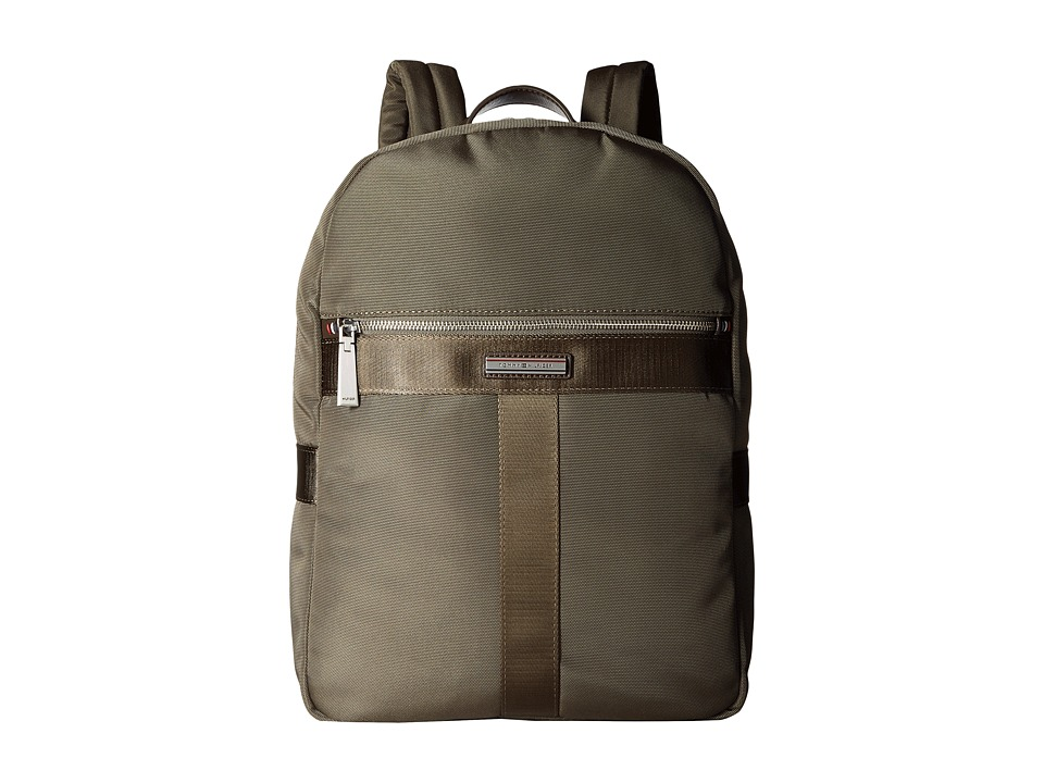 Tommy Hilfiger Darren Backpack Codura Nylon (Military Green) Backpack Bags