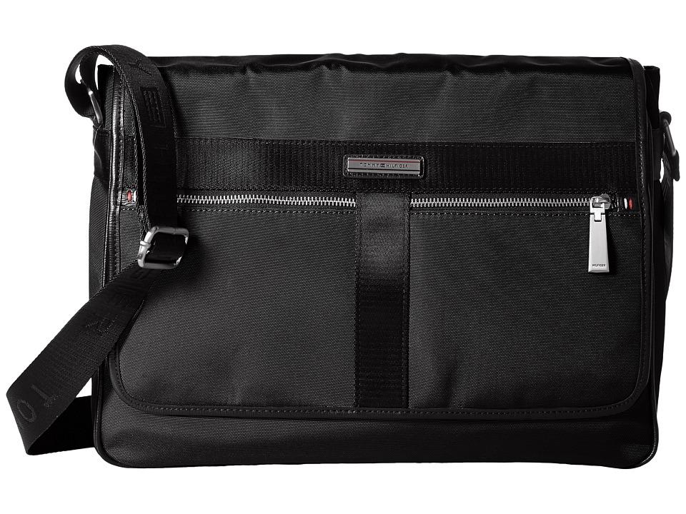 Tommy Hilfiger - Darren Flap Messenger Codura Nylon (Black) Messenger Bags