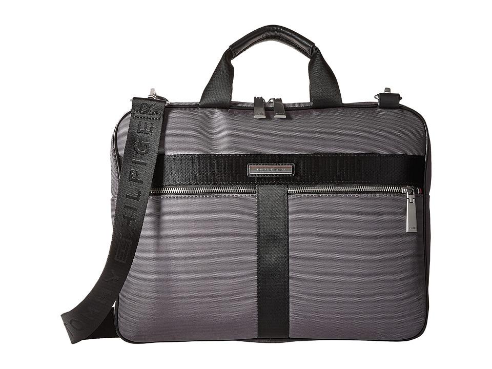 Tommy Hilfiger - Darren Slim Briefcase Codura Nylon (Anthracite) Briefcase Bags