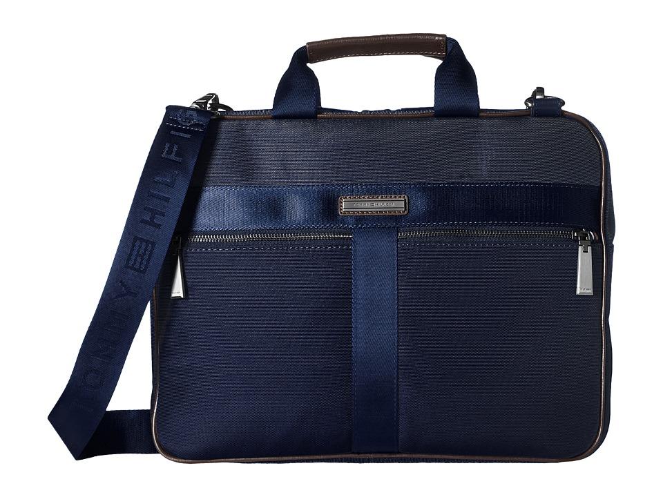 Tommy Hilfiger - Darren Slim Briefcase Codura Nylon (Navy) Briefcase Bags