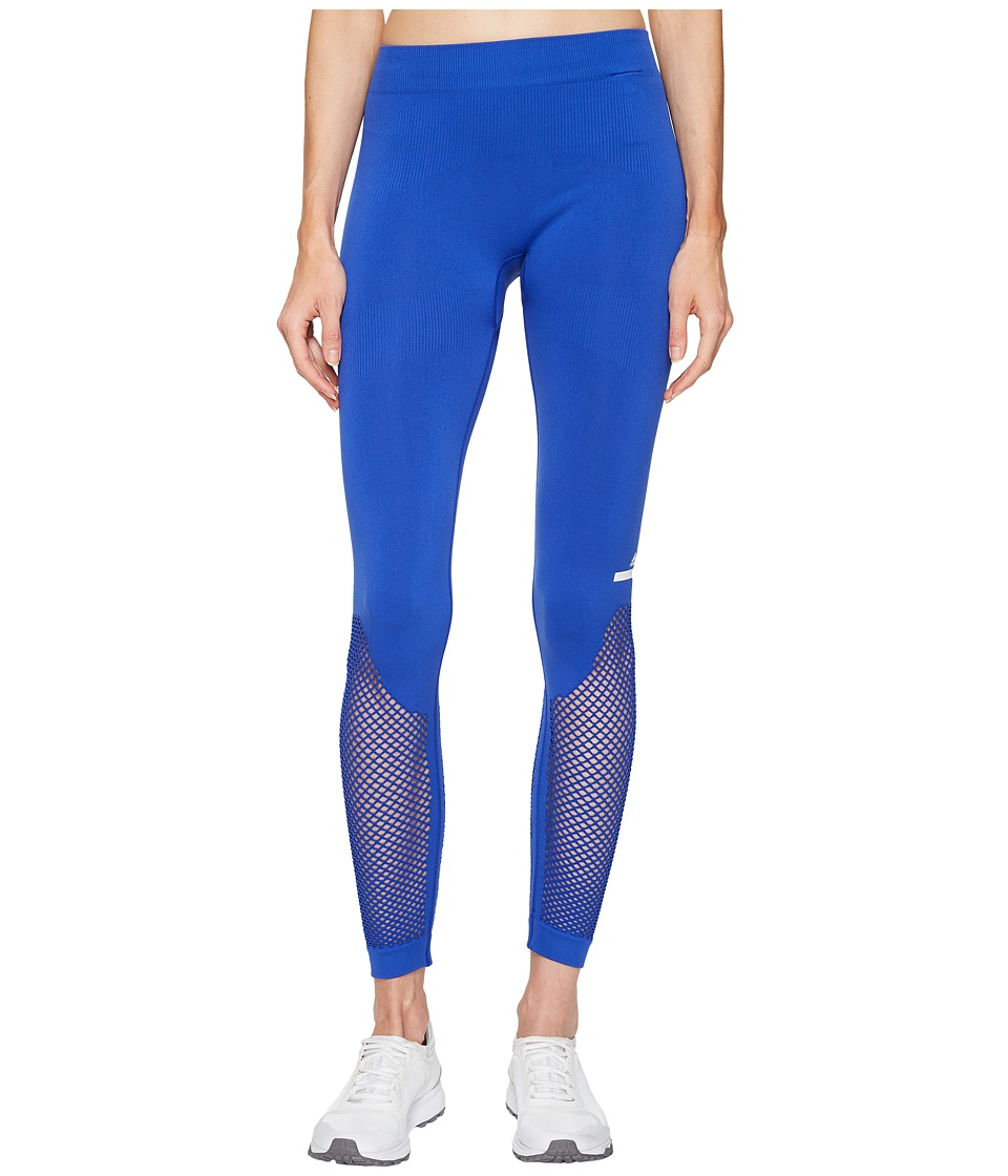 adidas by Stella McCartney - The Seamless Mesh Tights S97519 (Bold Blue) Women's Workout