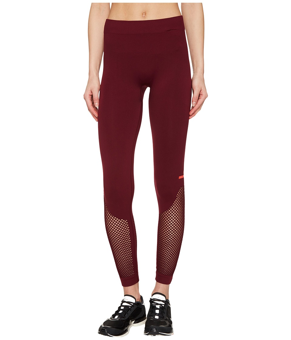 adidas by Stella McCartney - The Seamless Mesh Tights BQ1028 (Cherry Wood) Women's Workout