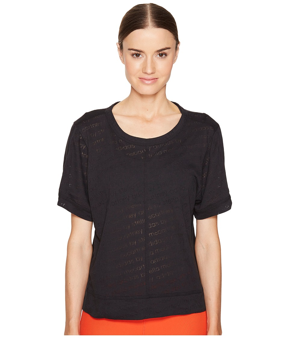 adidas by Stella McCartney - The Cool Logo Tee S96881 (Black) Women's T Shirt