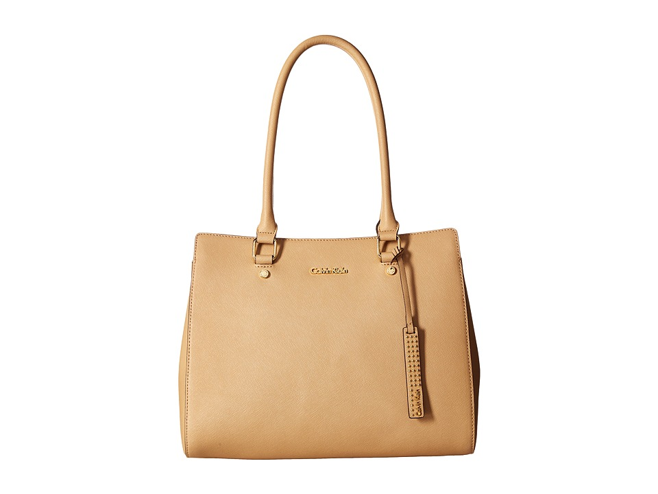 Calvin Klein - Key Items Saffiano Satchel (Nude) Satchel Handbags