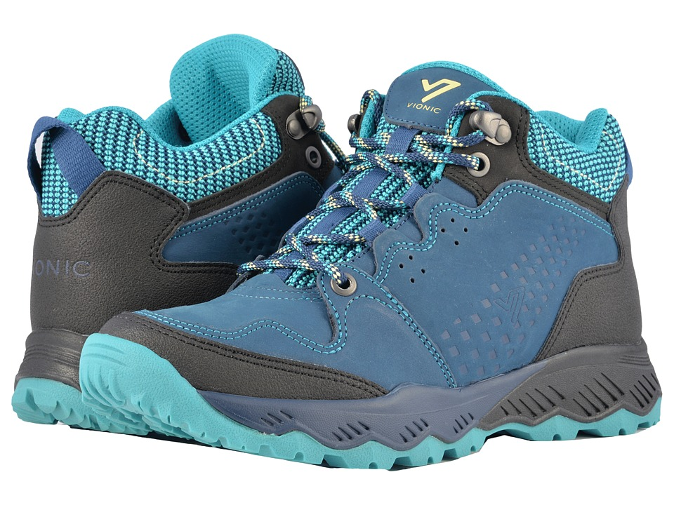 VIONIC Everett High-Top Trail Walker (Navy/Teal) Women