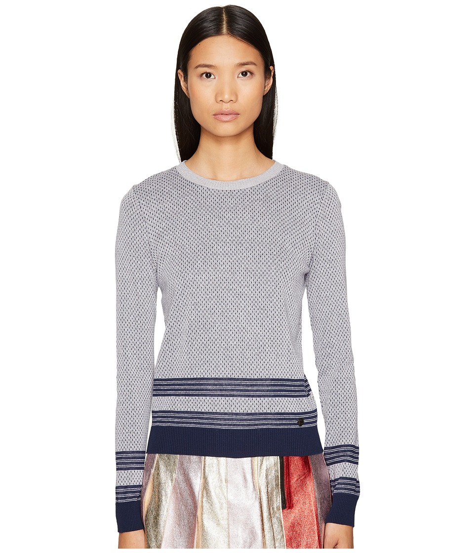 Sonia by Sonia Rykiel - Cicular Cotton Sweater (Grey Multi) Women's Sweater