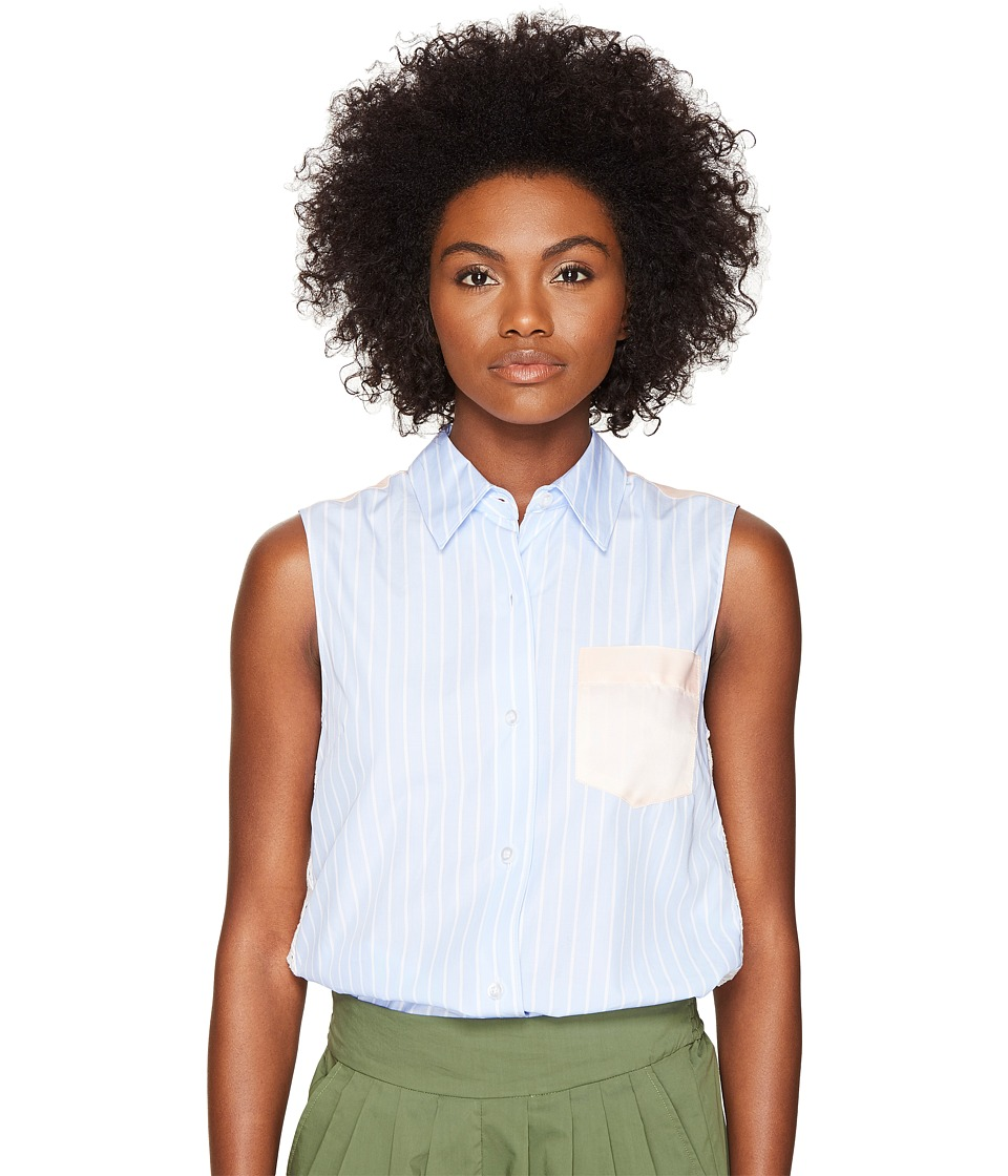 Sonia Rykiel - Striped Poplin Blouse (Blue Multicolor) Women's Blouse
