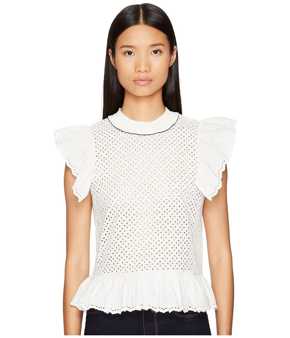 Sonia Rykiel - Embroidered Blouse (White) Women's Blouse