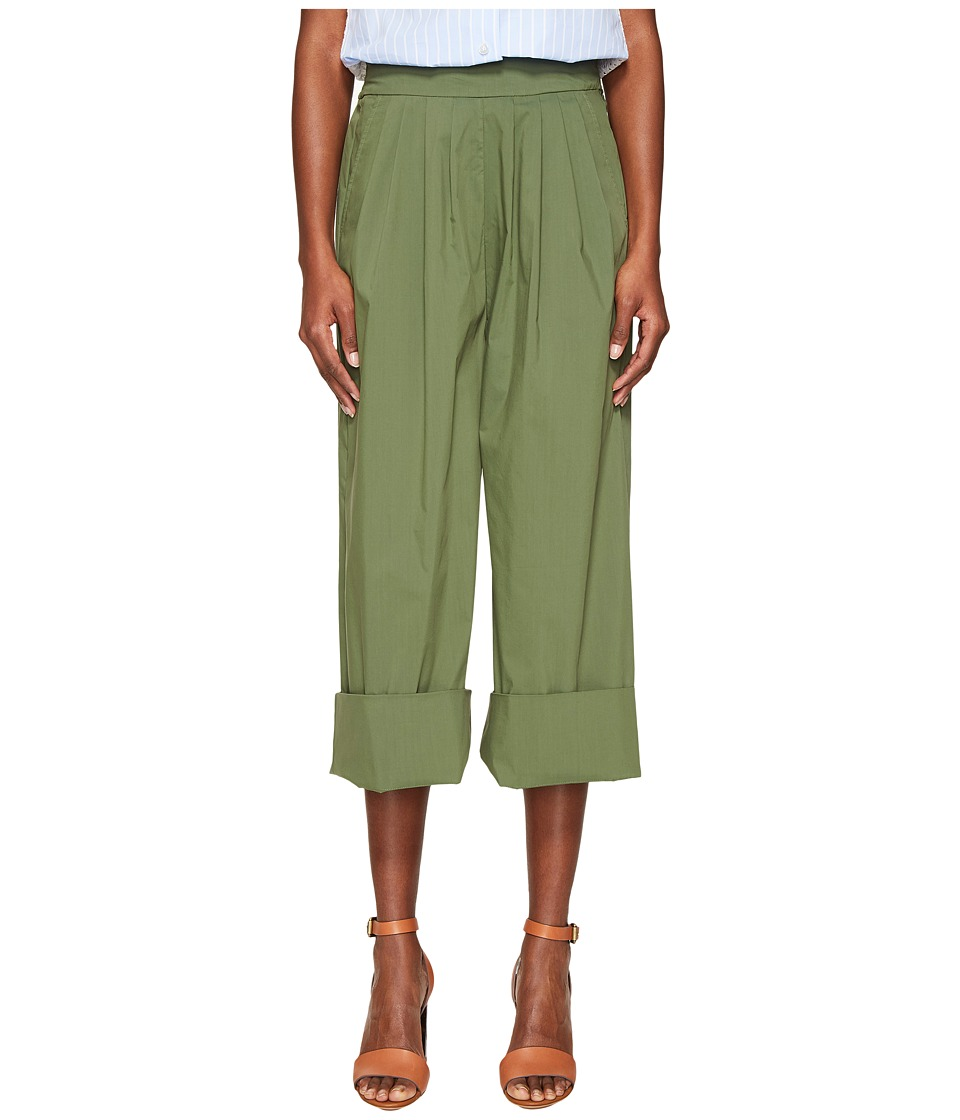 Sonia by Sonia Rykiel - Techincal Poplin Pants (Green) Women's Casual Pants