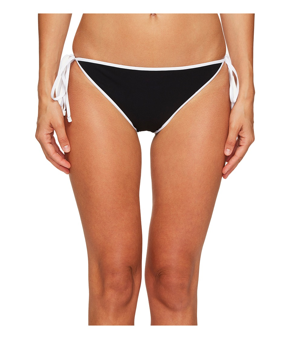 Jonathan Simkhai Reversible String Bikini Bottoms (Black/Bright White) Women