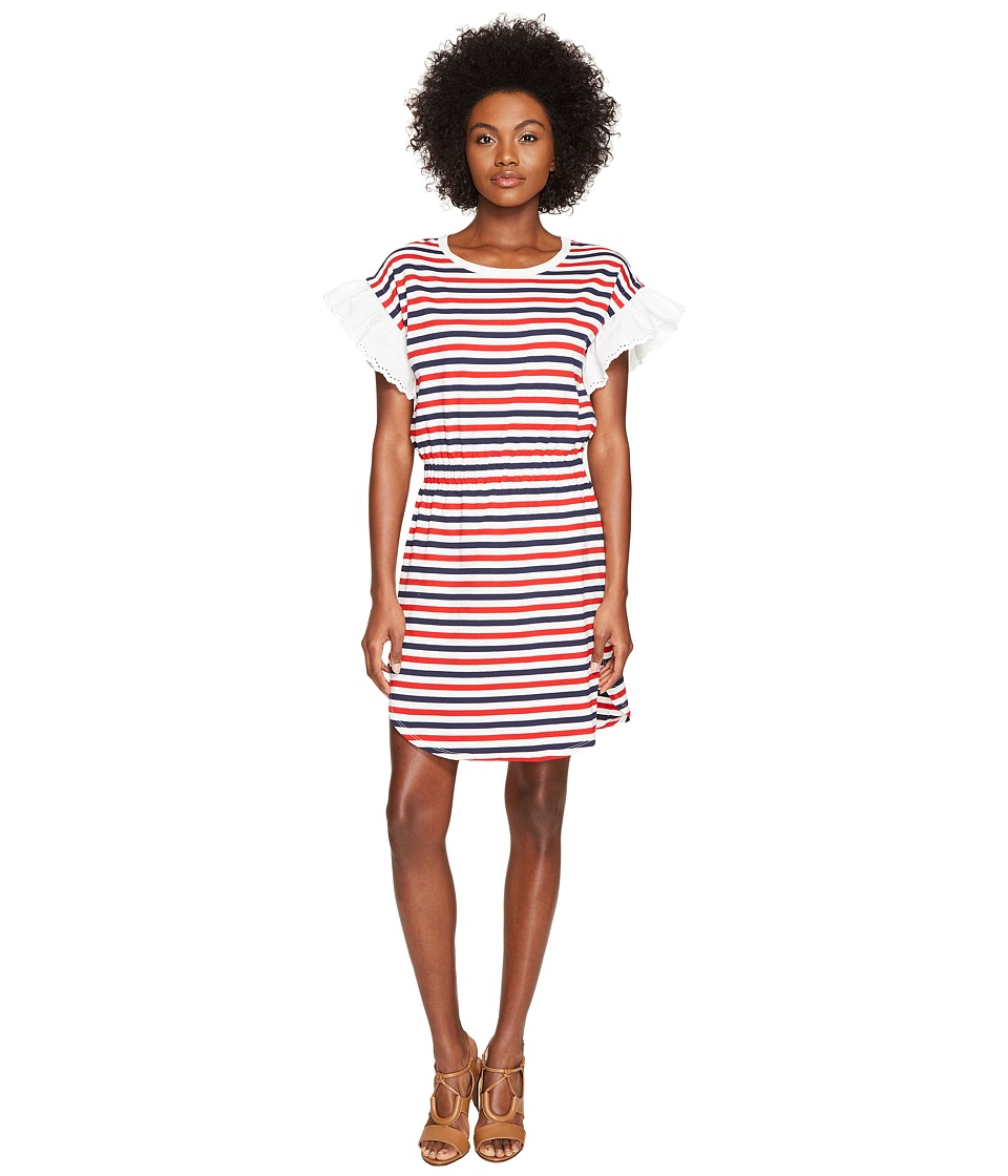 Sonia Rykiel - Striped Cotton Tunic (Red Stripe Multi) Women's Clothing