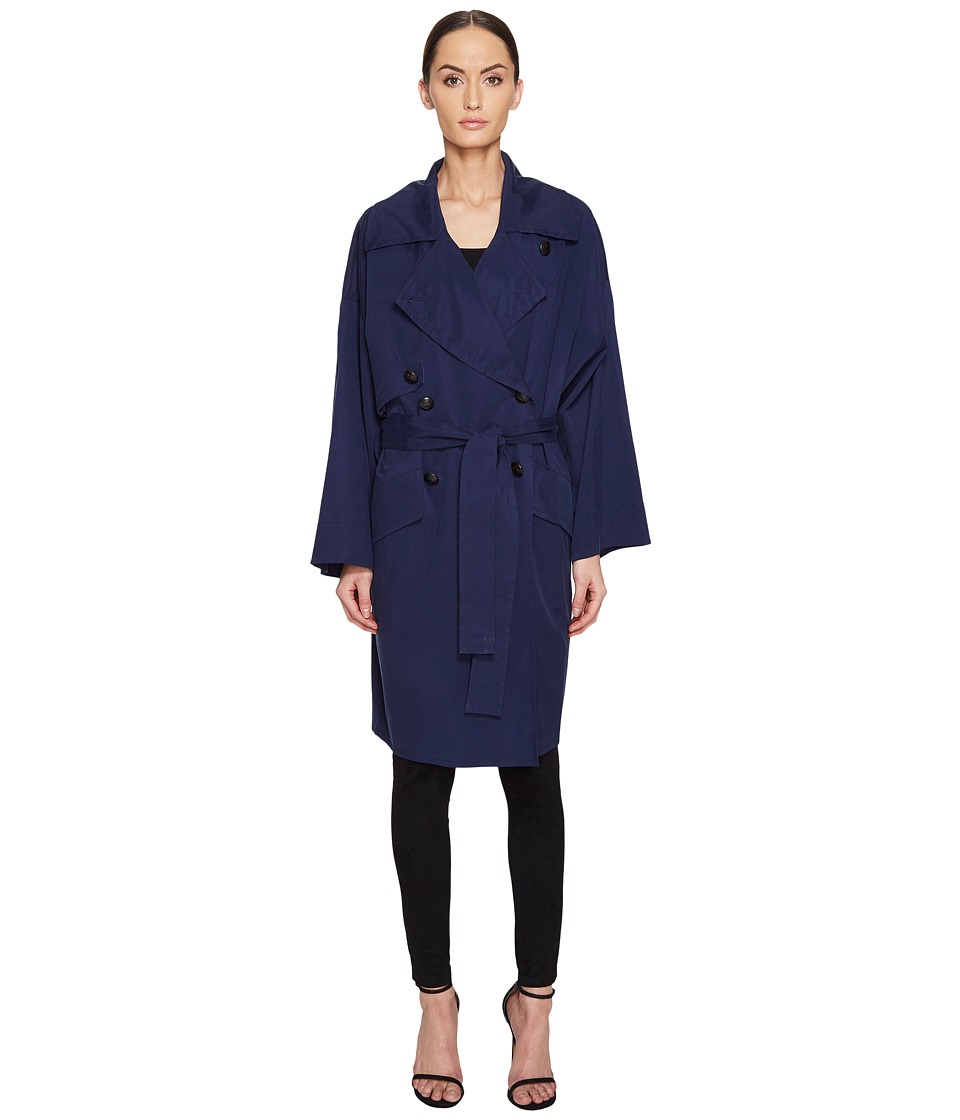 Sonia Rykiel - Fluid Smoking Trench (Navy) Women's Clothing