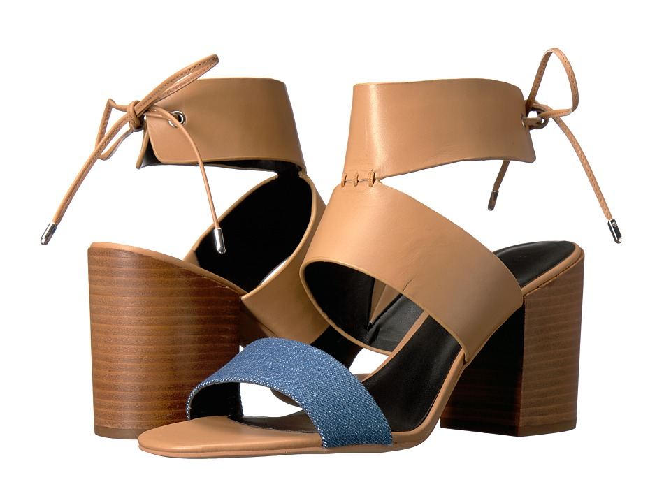 Rebecca Minkoff - Christy (Light Blue Denim/Natural Vachetta) High Heels