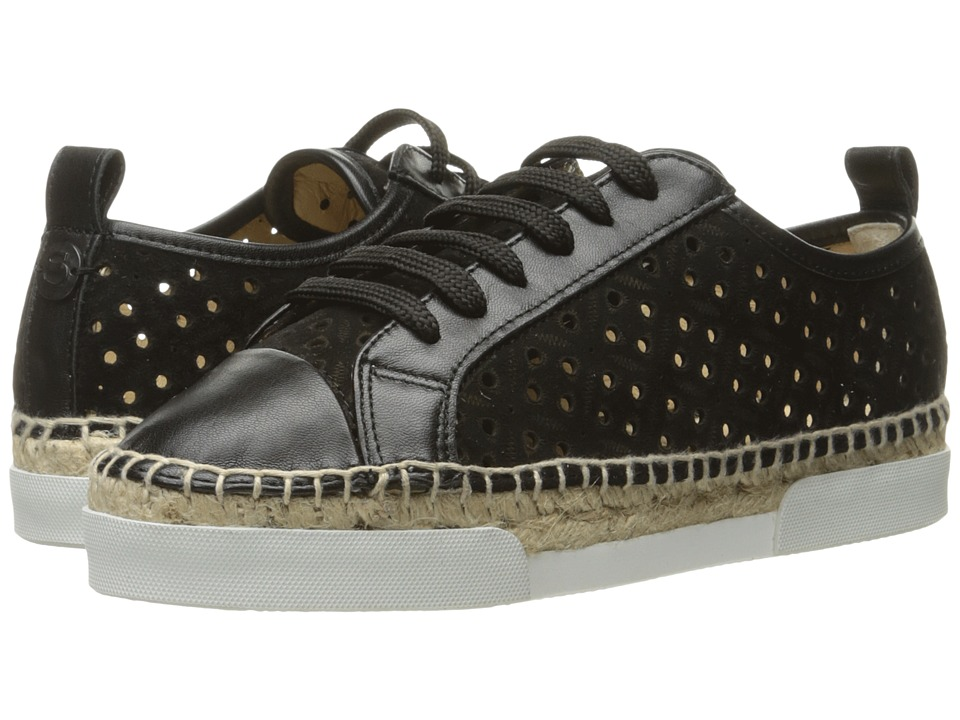 Sonia Rykiel - Perforated Velvet Sneaker (Black) Women's Shoes