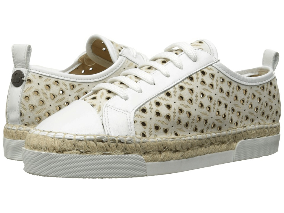Sonia by Sonia Rykiel - Perforated Velvet Sneaker (White) Women's Shoes