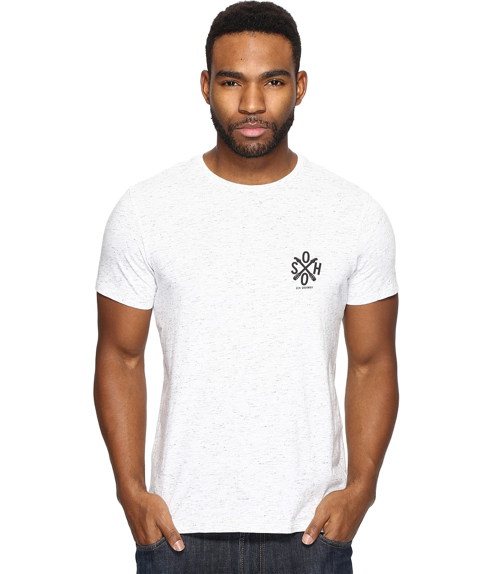 Ben Sherman Short Sleeve Live From Soho Graphic T-Shirt (Porcelain Marl) Men