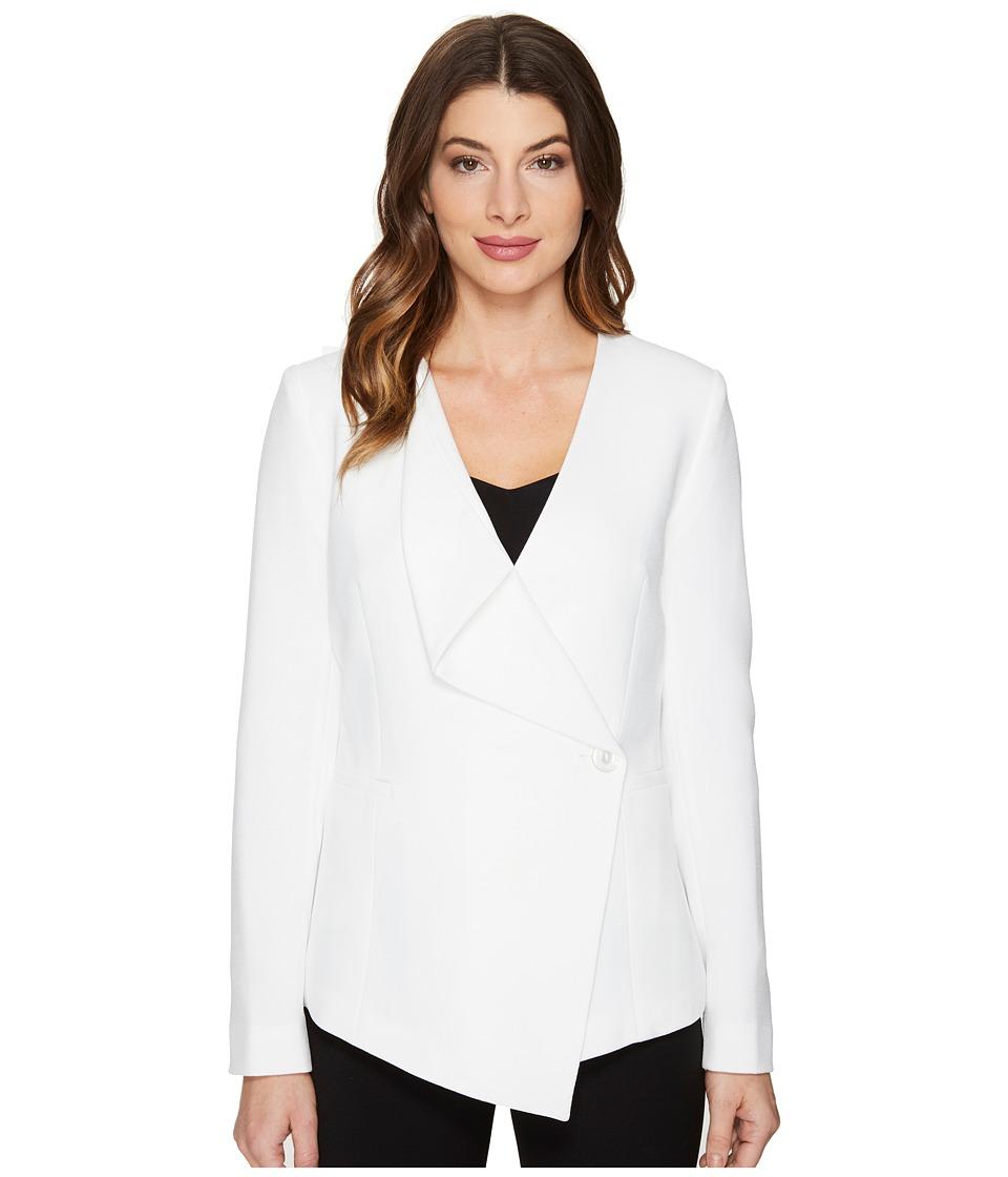 Tahari by ASL - Crepe Drape Front Jacket (Ivory) Women's Coat