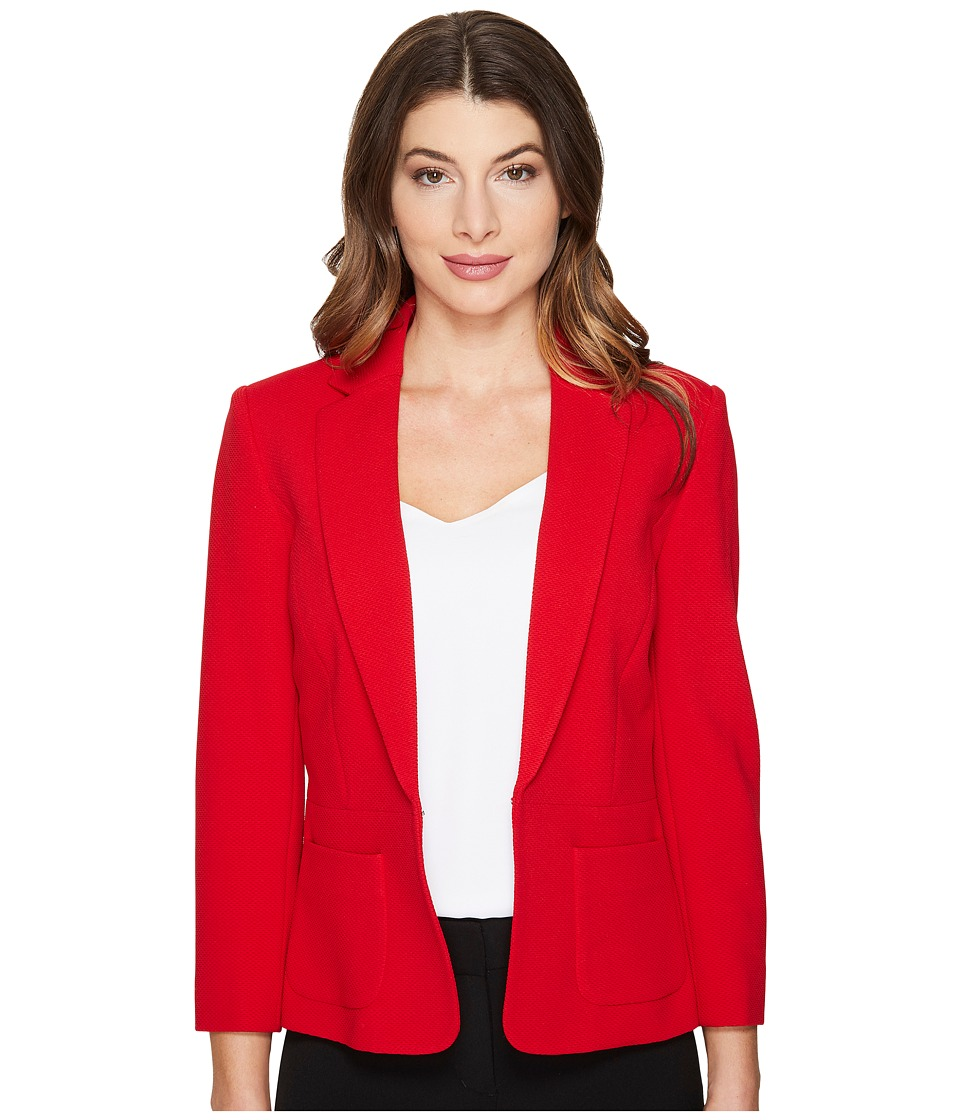 Tahari by ASL - Novelty Textured Jacket w/ Pockets (Tom's Red) Women's Coat