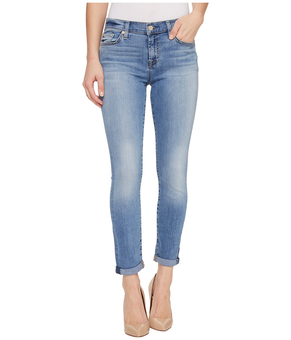 7 For All Mankind - Skinny Crop Roll w/ Squiggle in Willow Ridge (Willow Ridge) Women's Capri