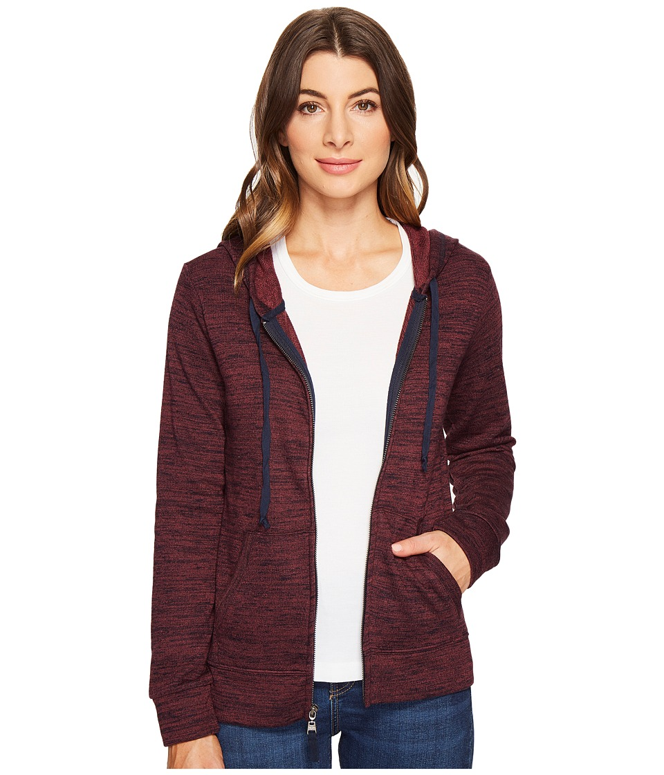 Threads 4 Thought - Brynn Zippie (Plum Wine/Navy) Women's Clothing