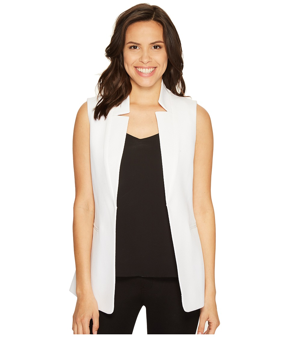 Tahari by ASL - Novelty Star Neck Vest (White) Women's Vest