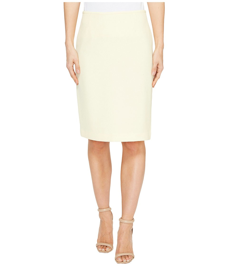 Tahari by ASL Crepe Pencil Skirt (Pastel Yellow) Women