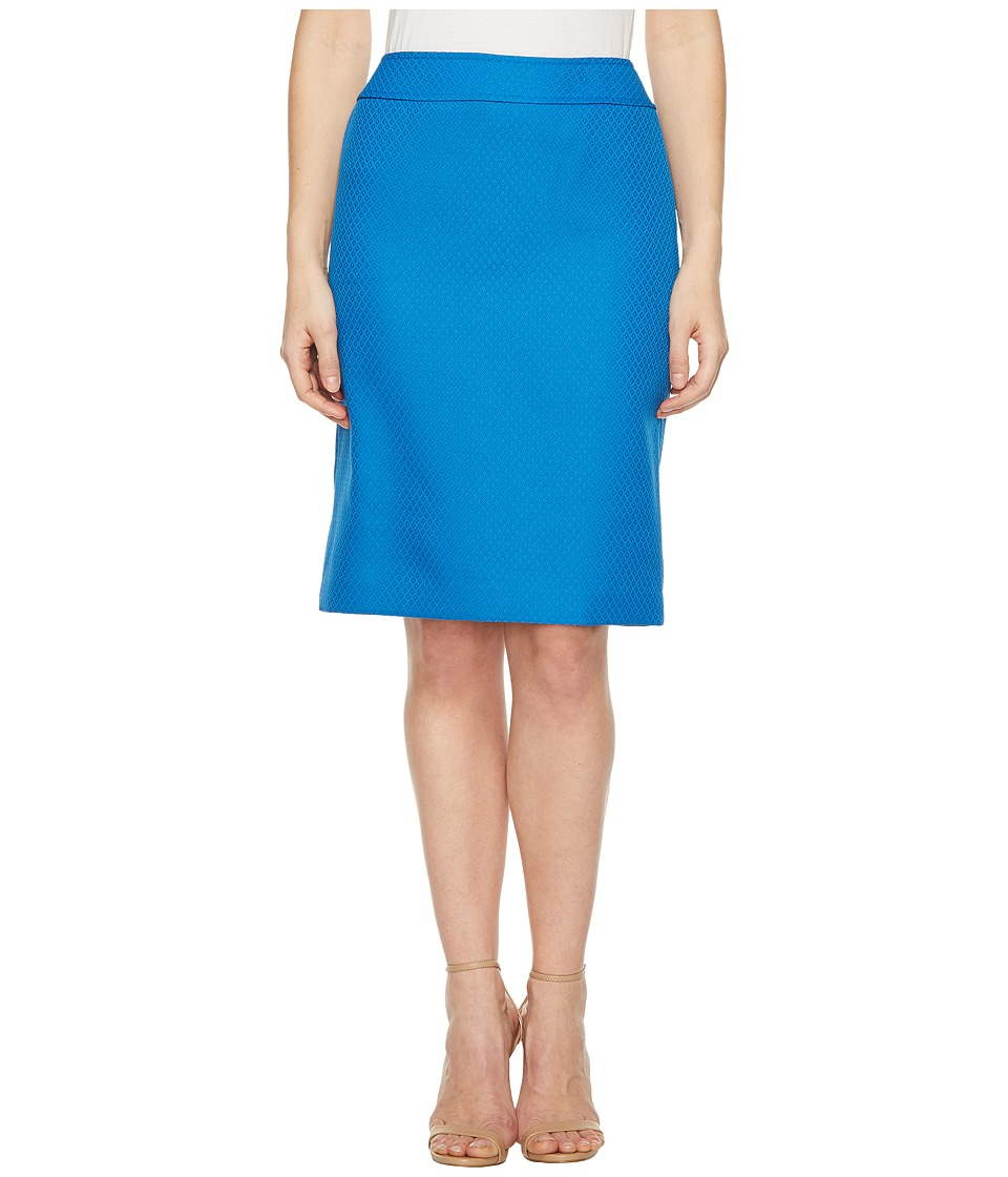 Tahari by ASL - Novelty Pencil Skirt (Lagoon Blue) Women's Skirt