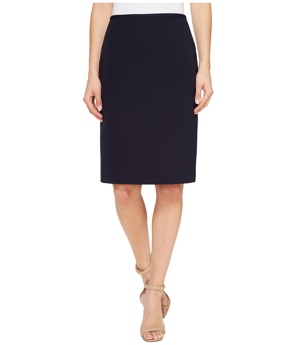 Tahari by ASL Novelty Pencil Skirt (Navy) Women