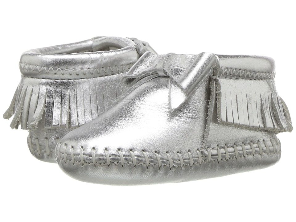 Minnetonka Kids Rosie Bootie (Infant/Toddler) (Silver) Girls Shoes