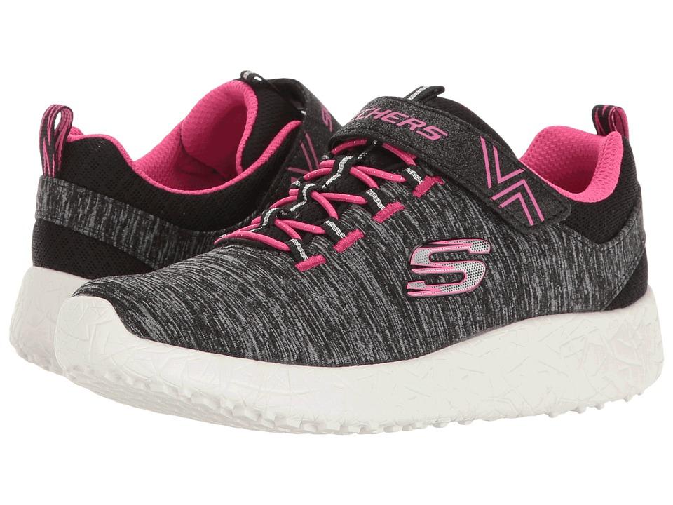 SKECHERS KIDS - Burst - Equinox (Little Kid/Big Kid) (Black/Hot Pink) Girl's Shoes