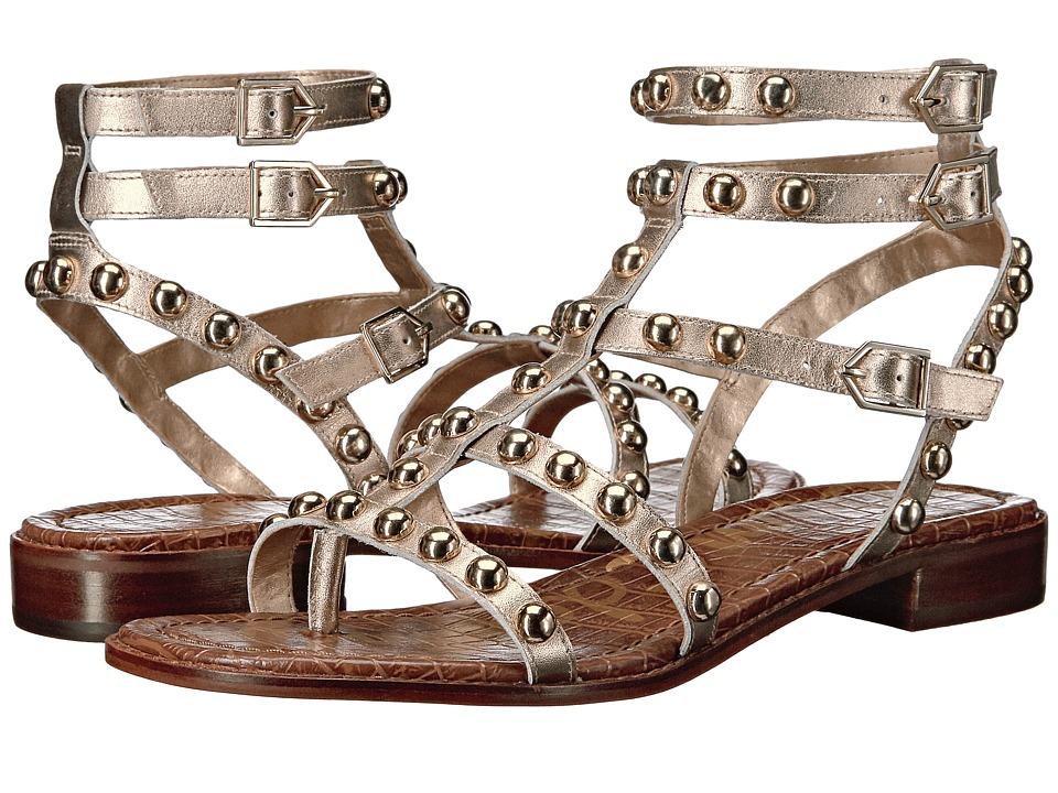 Sam Edelman - Eavan (Dark Metallic Gold Polished Metallic Leather) Women's Sandals
